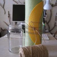 идея яркого декорирования напольной вазы картинка