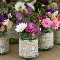 идея яркого декорирования вазы фото