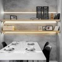 вариант необычной декоративной штукатурки в стиле квартиры под бетон фото