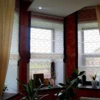 идея необычных декоративных штор в интерьере квартиры картинка