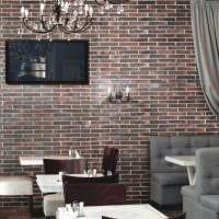 идея применения оригинального декоративного кирпича в интерьере комнаты фото