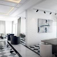 вариант применения яркого декоративного кирпича в дизайне спальни картинка
