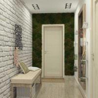 вариант применения оригинального декоративного кирпича в дизайне квартиры картинка
