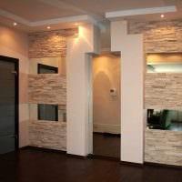 идея применения необычного декоративного кирпича в дизайне комнаты картинка