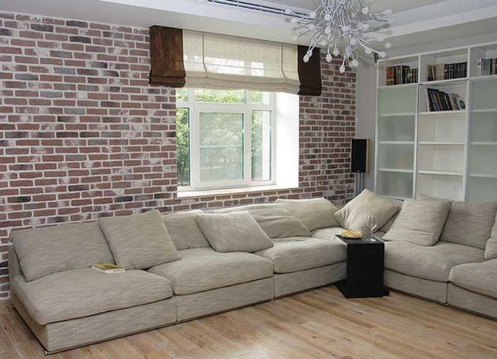 идея применения необычного декоративного кирпича в стиле квартиры