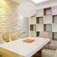 идея применения необычного декоративного кирпича в стиле комнаты фото
