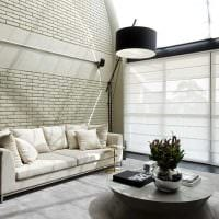 идея применения красивого декоративного кирпича в интерьере квартиры картинка