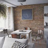 вариант применения оригинального декоративного кирпича в стиле квартиры фото