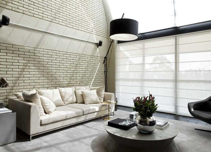 идея применения красивого декоративного кирпича в дизайне квартиры