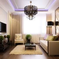 вариант оригинального интерьера спальни 3-х комнатной квартиры фото