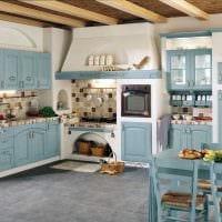 вариант современного дизайна комнаты в деревенском стиле картинка