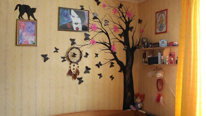 Украшение стен в квартире своими руками фото 75