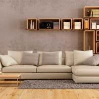 идея оригинального декора спальни с диваном картинка