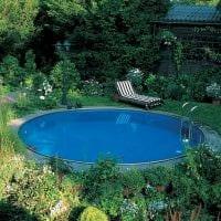 вариант оригинального интерьера маленького бассейна картинка