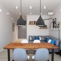 вариант оригинального дизайна кухни 3-х комнатной квартиры картинка