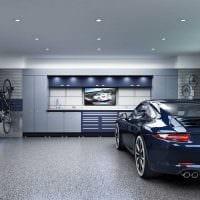 идея яркого интерьера гаража фото