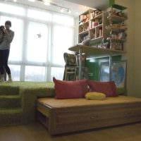идея современного интерьера спальни 3-х комнатной квартиры фото