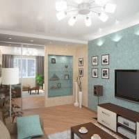 идея необычного интерьера гостиной комнаты 17 кв.метров картинка