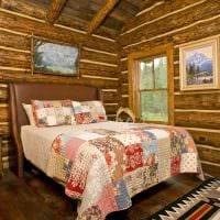 идея оригинального декора гостиной в деревенском стиле фото