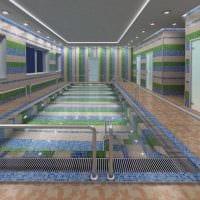 идея необычного дизайна небольшого бассейна фото