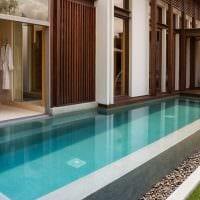 вариант современного интерьера небольшого бассейна фото