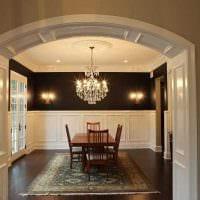 идея красивого интерьера гостиной с аркой фото