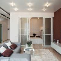 вариант красивого оформления гостиной комнаты 17 кв.метров картинка