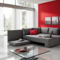 идея красивого дизайна кухни с диваном картинка