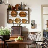 идея необычного интерьера квартиры в деревенском стиле фото