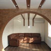 идея современного дизайна спальни с аркой картинка
