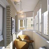 идея необычного дизайна небольшого балкона картинка
