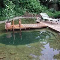 идея необычного декора маленького бассейна фото