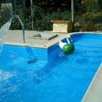 вариант оригинального стиля небольшого бассейна картинка