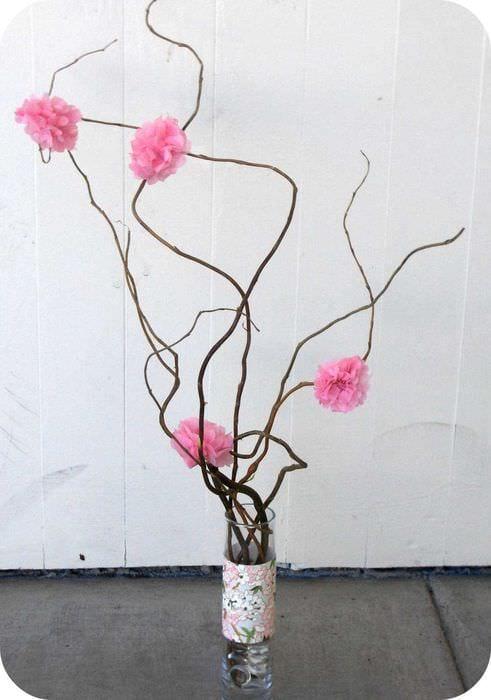 Ветки для напольной вазы своими руками 476