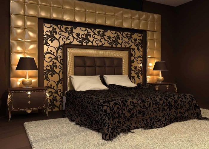 вариант стильного декорирования интерьера спальни