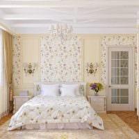 вариант стильного декорирования стиля спальной комнаты картинка