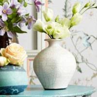 идея красивого украшения напольной вазы фото