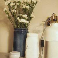 вариант оригинального украшения настольной вазы картинка