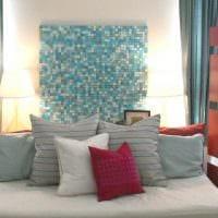 идея яркого оформления стен в помещениях фото