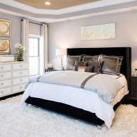 вариант необычного декорирования дизайна спальной комнаты картинка