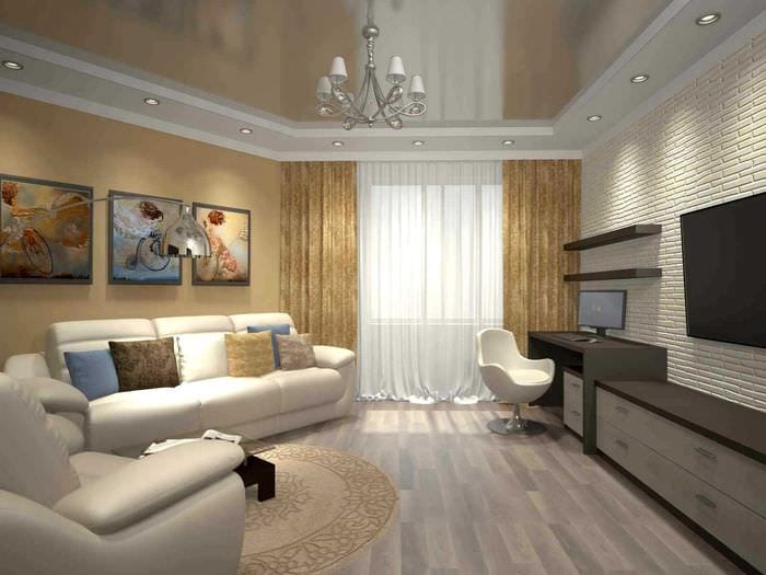 Дизайн трехкомнатной квартиры 64