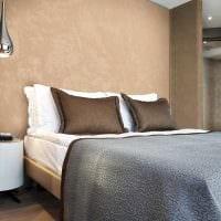вариант красивого дизайна комнаты с декоративной штукатуркой фото