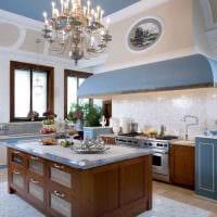 вариант красивого интерьера кухни фото