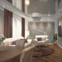 вариант необычного стиля 2 комнатной квартиры фото