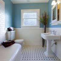 идея яркого интерьера ванной комнаты картинка