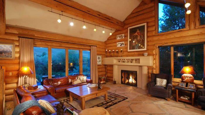 Фото дизайна деревянных загородных домов