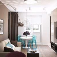 вариант оригинального дизайна 2 комнатной квартиры картинка