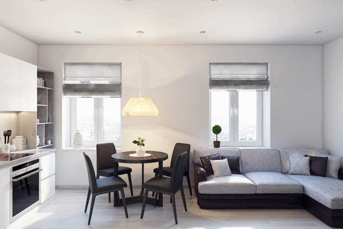 вариант необычного интерьера квартиры