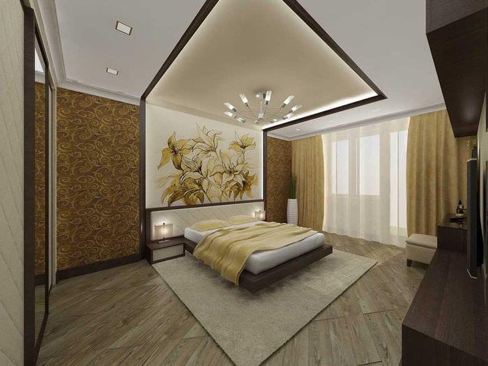 вариант необычного интерьера 2 комнатной квартиры