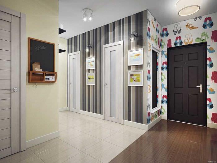 идея цветной интерьера коридора